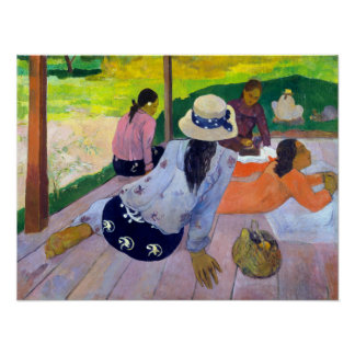 Paul Gauguin The Siesta Poster