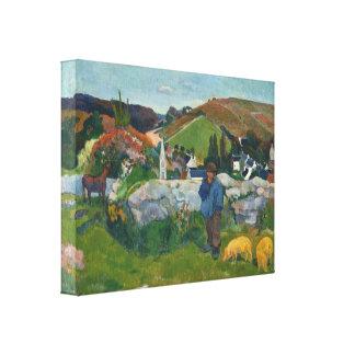 Paul Gauguin The Swineherd Canvas Print