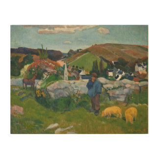 Paul Gauguin The Swineherd Wood Print
