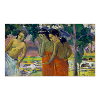Paul Gauguin Three Tahitian Women Poster
