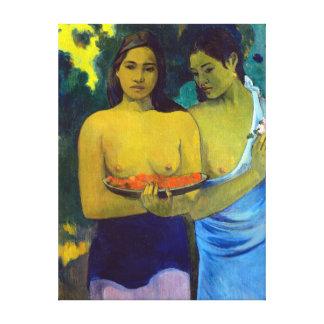 Paul Gauguin Two Tahitian Women Canvas Print