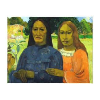 Paul Gauguin Two Women Canvas Print