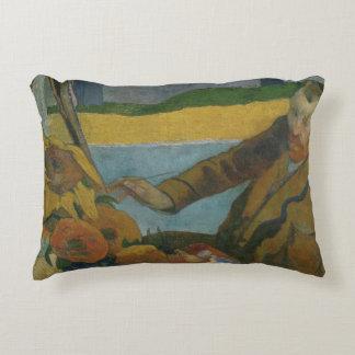 Paul Gauguin -Vincent van Gogh Painting Sunflowers Decorative Cushion