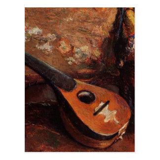 Paul Gauguin Vintage Mandolin on a Chair Postcard