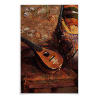Paul Gauguin Vintage Mandolin on a Chair Poster