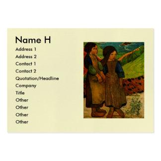 Paul Gauguin's Breton Girls (1889) Pack Of Chubby Business Cards