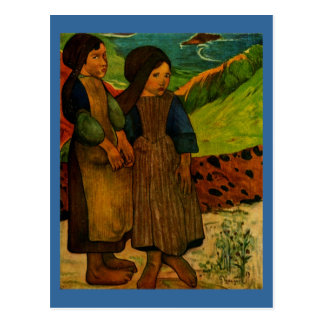 Paul Gauguin's Breton Girls (1889) Postcard
