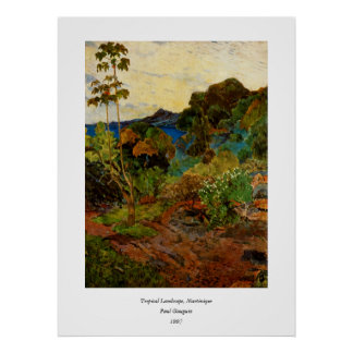Paul Gauguin's Martinique Landscape (1887) Poster
