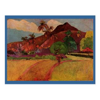 Paul Gauguin's Tahitian Landscape (1893) Postcard