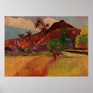 Paul Gauguin's Tahitian Landscape (1893) Poster
