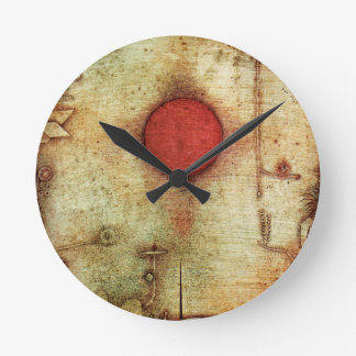 Paul Klee Ad Marginem Painting Round Clock