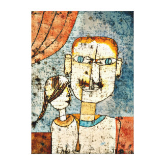 Paul Klee art: Adam and Little Eve Canvas Print