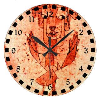 Paul Klee art: Angelus Novus (New Angel) Large Clock