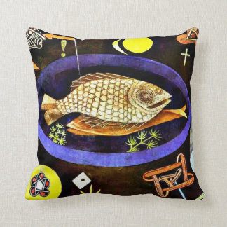 Paul Klee art: Aroundfish Cushion