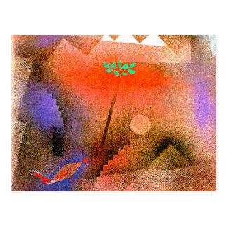 Paul Klee art - Bird Wandering Off Postcard
