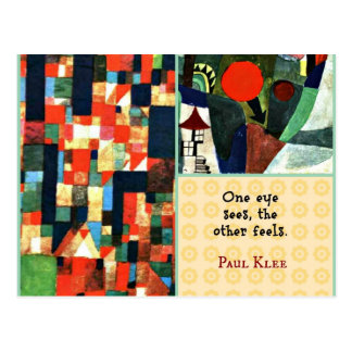 Paul Klee Art Collage and Quote: One Eye Sees... Postcard