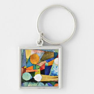 Paul Klee art: Colour-Shapes Key Ring