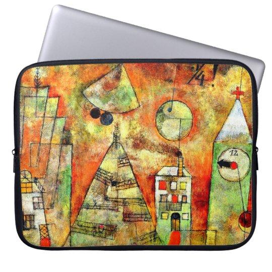 Paul Klee art: Fateful Hour, famous Klee painting Laptop Sleeve