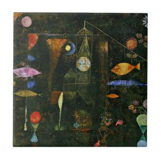 Paul Klee art: Fish Magic, famous Klee painting Ceramic Tile