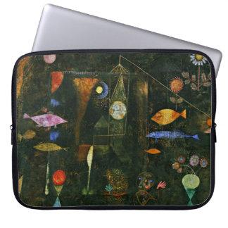 Paul Klee art: Fish Magic, famous Klee painting Laptop Sleeve