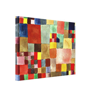 Paul Klee art: Flora on Sand Canvas Print