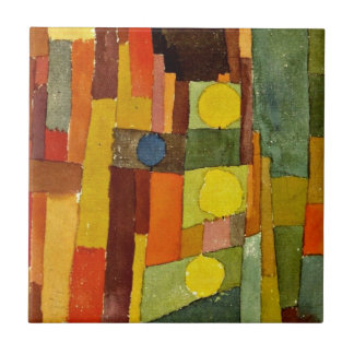 Paul Klee art: In the Style of Kairouan Ceramic Tile