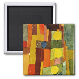 Paul Klee art: In the Style of Kairouan Square Magnet