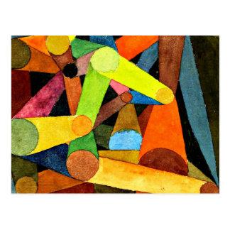 Paul Klee art - Opened Mountain watercolor Postcard