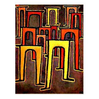 Paul Klee art - Revolution of the Viaduct-1937 Postcard