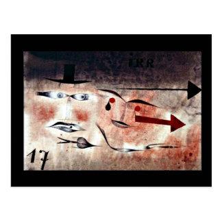 Paul Klee art: Seventeen, Klee painting Postcard