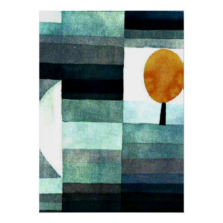 Paul Klee art: The Messenger of Autumn Poster