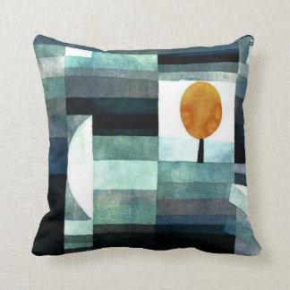Paul Klee art: The Messenger of Autumn Throw Cushions