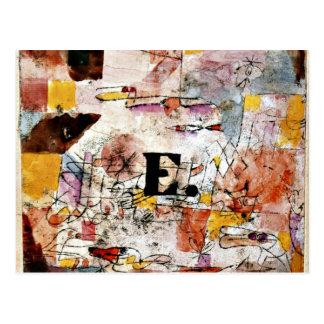 Paul Klee art: Waterfowl - Duck painting Postcard