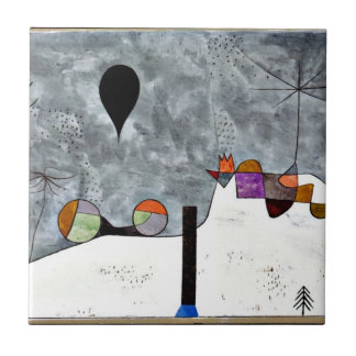 Paul Klee art: Winter Painting Ceramic Tile