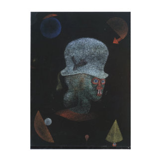 Paul Klee Astrological Fantasy Portrait Canvas Print