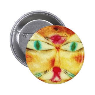 Paul Klee Cat and Bird Button