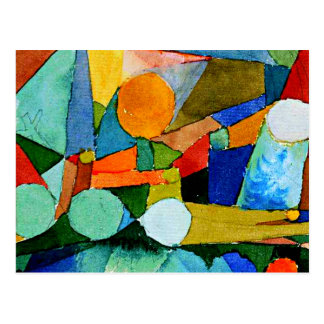 Paul Klee: Colour Shapes abstract art Postcard