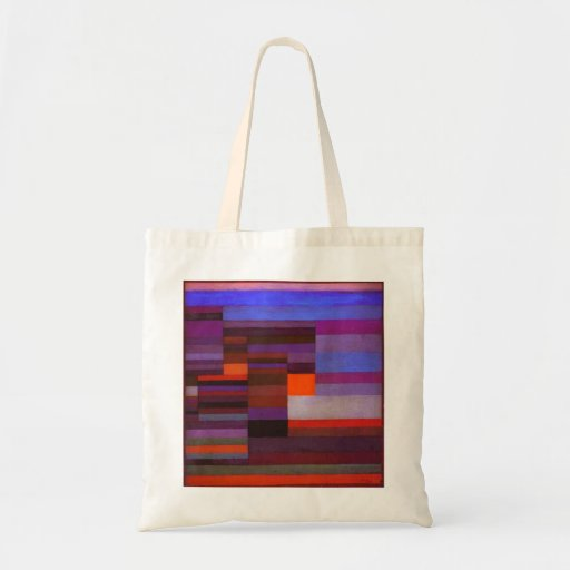 Paul Klee Fire in the Evening Tote Bag