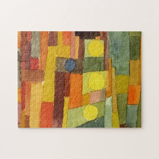 Paul Klee In The Style Of Kairouan Watercolor Art Jigsaw Puzzle