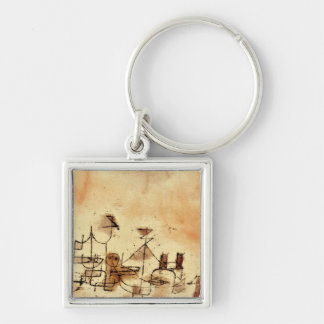Paul Klee - North Africa Silver-Colored Square Key Ring