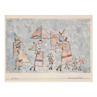 Paul Klee- Promenade in the Orient Postcard