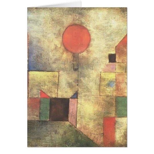 Paul Klee: Red Balloon Card