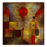Paul Klee Red Balloon Poster