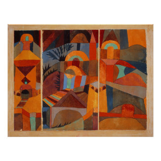 Paul Klee Temple Garden Extra Large Size Poster
