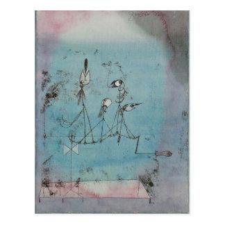 Paul Klee Twittering Machine Postcard