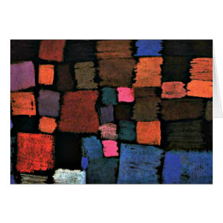 Paul Klee's abstract art, Coming to Bloom Card