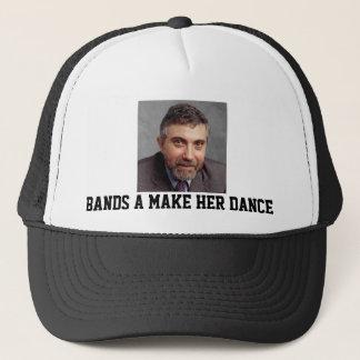 Paul Krugman Bands a Make Her Dance Trucker Hat