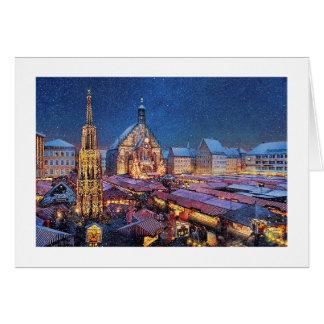 """Paul McGehee """"Christkindlesmarkt"""" Note Card"""