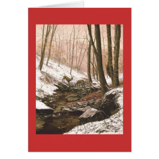 """Paul McGehee """"First Snow"""" Holiday Greeting Card"""