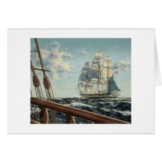 "Paul McGehee Frigate USS ""Constellation"" Card"
